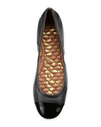 Sam Edelman - Black Baxton Patent Cap-Toe Flat - Lyst