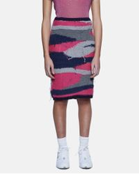 Sibling Green Destroyed Camo Pencil Skirt