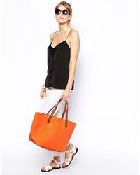 Mango - Orange Great Matt Faux Leather Bucket Shoulder Bag - Lyst