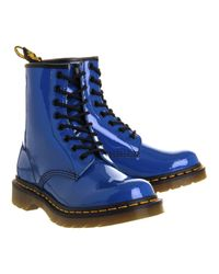 Dr. Martens Blue Eight Eyelet Lace Up Boots