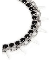 Joomi Lim - Metallic Spike Crystal Chain Necklace - Lyst