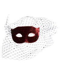 Piers Atkinson | Red Swarovski Crystal Veil Mask | Lyst