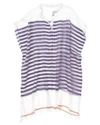 lemlem | Purple Elsabet Henley Cover Up Poncho | Lyst