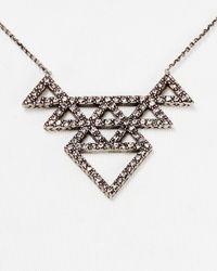 "House of Harlow 1960 Metallic 1960 Tessellation Necklace, 16"""