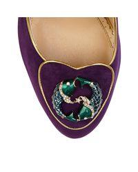 Charlotte Olympia Purple Pisces Cosima