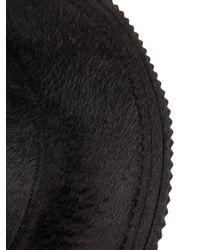 Undercover Black Brushed Rabbit-Fur Hat for men