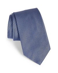 Brioni - Blue Geometric Print Silk Tie for Men - Lyst