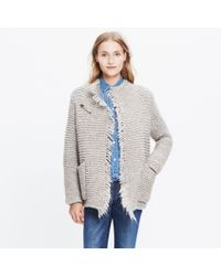 Madewell Natural Fringe Open Cardigan Sweater