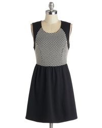 Monteau Inc Black Checkered and True Dress