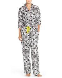 DKNY Gray Flannel Pajamas