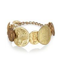Dolce & Gabbana | Metallic Goldtone Coin Bracelet | Lyst
