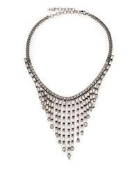 DANNIJO - Metallic Hallsy Crystal Fringe Bib Necklace - Lyst