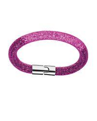 Swarovski | Purple Stardust Gradient Bracelet | Lyst