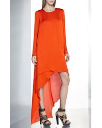 BCBGMAXAZRIA - Orange Runway Destry Dress - Lyst