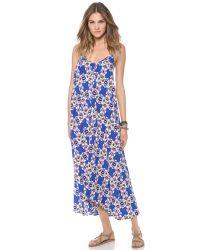 Pink Stitch - Blue Resort Maxi Dress - Lyst
