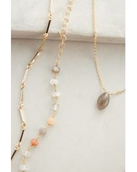 Anthropologie | Orange Marquis Layered Necklace | Lyst