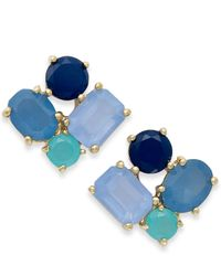 kate spade new york | Blue New York Goldtone Cluster Stud Earrings | Lyst