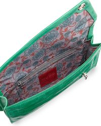Hobo Green Mave Leather Clutch Bag