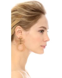 Tory Burch - Metallic Metal Triple Horn Drop Earrings - Gold Ox Matte - Lyst