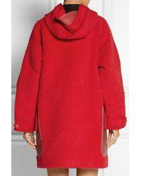 COACH - Hooded Textured-felt Duffle Coat - Lyst