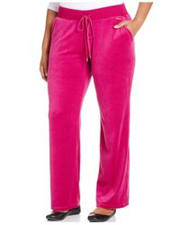 Michael Kors | Pink Michael Plus Size Pull-on Velour Pants | Lyst