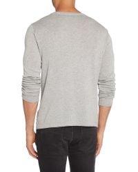 Calvin Klein | Gray Cadoc Crew Neck Long Sleeve Sweater for Men | Lyst