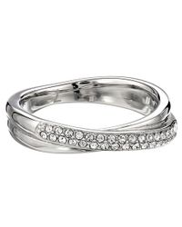 Michael Kors - Metallic Pave Crossover Ring - Lyst