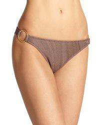 Elizabeth Hurley Beach Brown Heidi Ring Bikini Bottom