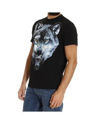 DIESEL | Black Wolf Printed Cotton Jersey T-shirt for Men | Lyst