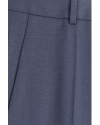 HUGO | Hinass Wool-blend Trousers - Blue | Lyst