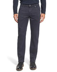 Bugatchi | Gray Straight Leg Five-pocket Pants for Men | Lyst