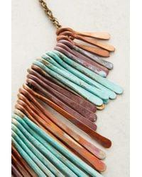 Sibilia | Blue Patina Fringed Bib Necklace | Lyst