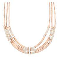 Henri Bendel - Pink East Hampton Triple Collar Necklace - Lyst