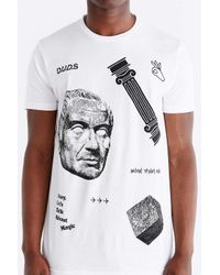 Duds - White Greek Palace Tee for Men - Lyst