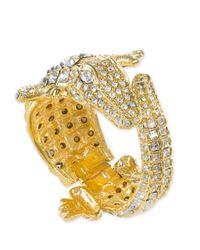 Kenneth Jay Lane   Metallic Crystal Alligator Bracelet   Lyst