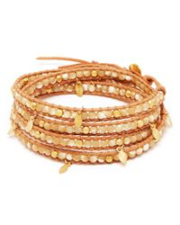 Chan Luu - Brown Leaf Charm Five Wrap Bracelet - Lyst