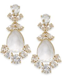 kate spade new york | White Crystal Chandelier Earrings | Lyst