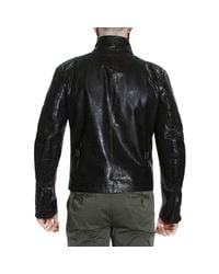 Matchless - Black Down Jacket Jacket Osborne Motor Leather for Men - Lyst