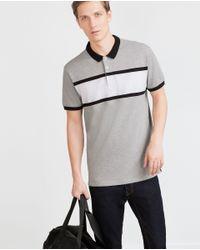 Zara | Gray Piqué Polo Shirt for Men | Lyst