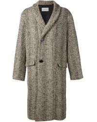 Lemaire - Brown 'kaftan Owl' Coat for Men - Lyst