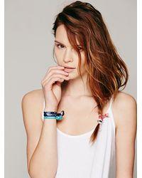 Free People | Blue Womens Elastic Printed Hair Ties | Lyst