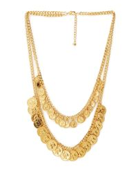 Forever 21 Metallic Welltraveled Layered Coin Necklace