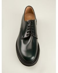 Church's Green Derby Shoes for men