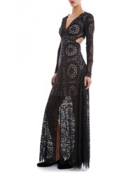 Temperley London - Black Long Nomi Backless Dress - Lyst