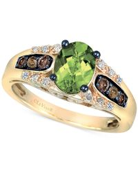 Le Vian | Metallic Chocolatier Peridot (1-1/5 Ct. T.w.) And Diamond (1/4 Ct. T.w.) Ring In 14k Gold | Lyst