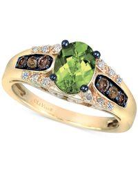 Le Vian | Metallic Chocolatier Peridot (1-1/5 Ct. T.w.) And Diamond (1/4 Ct. T.w.) Ring In 14k Gold | Lyst
