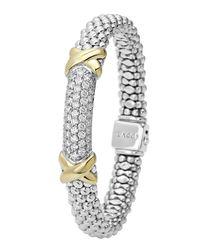 Lagos | Metallic Diamond Lux Caviar X Bracelet | Lyst