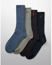 Polo Ralph Lauren | Blue Classic Crew Socks for Men | Lyst