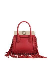Dee Ocleppo | Red Roma Mini Convertible Fringed Leather & Suede Tote | Lyst