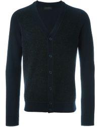 Z Zegna - Blue Panelled V-neck Cardigan for Men - Lyst